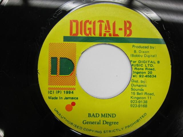 GENERAL DEGREE / BAD MIND / DIGITAL B