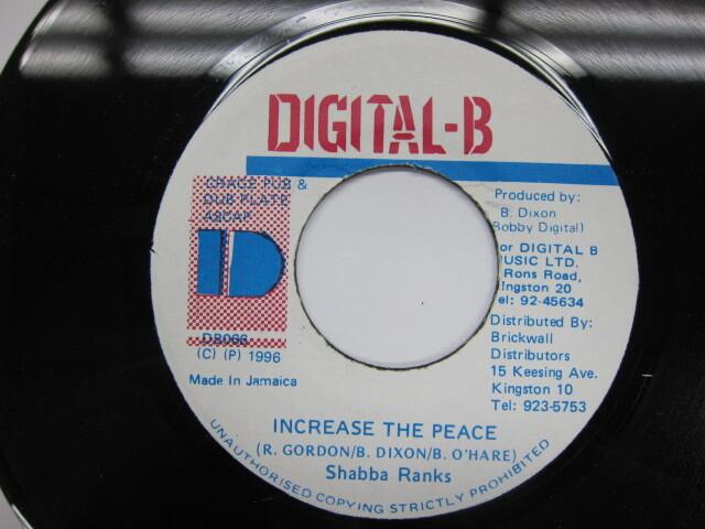 SHABBA RANKS / INCREASE THE PEACE / DIGITAL B