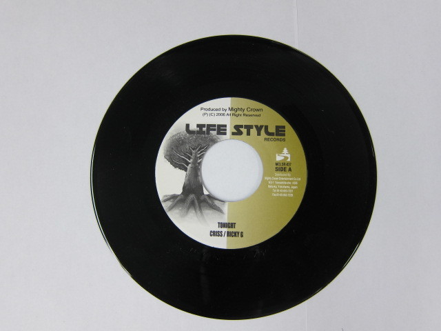Aside CRISS & RICKY G / TONIGHT Bside NG HEAD / MY WAY / LIFE STYLE