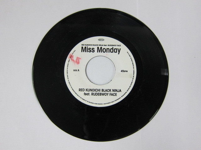Aside MISS MONDAY feat RUDEBOY FACE / RED KUNOICHI BLACK NINJA Bide MISS MONDAY feat RICKIE G / SHARE