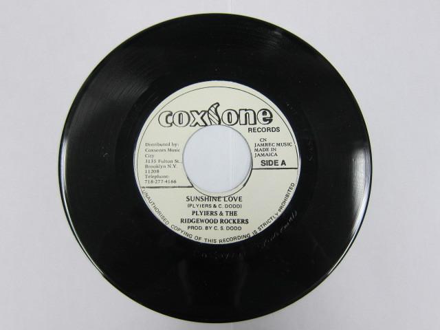 PLYIERS & THE RIDGEWOOD ROCKERS / SUNSHINE LOVE / COXSONE