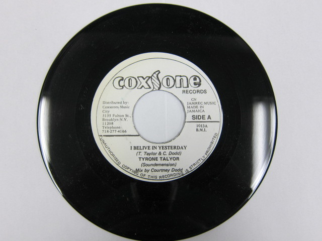 TYRONE TALYOR / I BELIVE IN YESTERDAY / SOXSONE