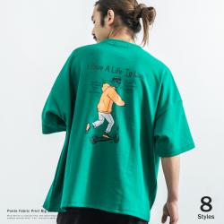 ポンチイラストBIG Tシャツ◆9531