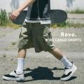 【Revo./レヴォ】コットンナイロンストレッチワイドシルエットカーゴショーツ◆11078