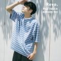 【Revo./レヴォ】パイルタッチボーダー SS Tee◆11083
