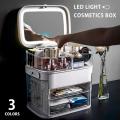 LEDライト付コスメBOX◆11120