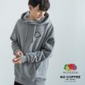 【送料無料】【NO COFFEE】×【FRUIT OF THE LOOM】コラボ 裏毛プルオーバーパーカー◆11333