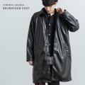 【送料無料】シンセティックレザーステンカラーコート◆11383