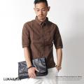 【LUKA&jean】花刺繍ビンテージ加工5分袖シャツ◆2477
