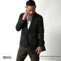 【Revo.】ネップ圧縮ニット長袖テーラードジャケット◆3816