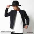 【Upscape Audience】日本製/国産ダブルジップナイロンオックスMA-1ブルゾン◆4870