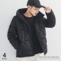 【送料無料】ストレッチダウンフードジャケット◆4910