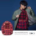 【IIIagi(Magi)/マギ】日本製/国産ミックスバッファローチェックシャツ◆4947
