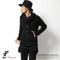 【SALE】【elseven/エルセブン】日本製/国産ウール混シャギーニット無地フード付きジャケット◆4986