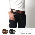 【Nudie Jeans/ヌーディージーンズ】VIKTORSSON MEDALIONコンチョ付レザーベルト◆5031