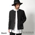 【Ranch】コットンポプリンノーカラージャケット◆5464