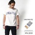 【SALE】【SPELL BOUND】日本製パック入りループウィール英字ロゴポケットTシャツ◆5659
