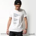 【SALE】【novel;/ノベル】プリントデザイン半袖Tシャツ【FLAG】◆5855