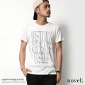 【SALE】【novel;/ノベル】英字プリントデザイン半袖Tシャツ【HISTORY】◆5856