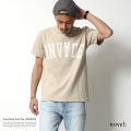 【novel;/ノベル】フロントロゴプリント半袖Tシャツ【INVADE】◆5857