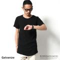 【SALE】【Galvanize】ミニワッフルラウンドカットロング丈Tシャツ◆5885