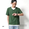 【LISS/リス】日本製/国産ノーカラー半袖コットンシャツ◆5933