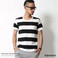 【SALE】【Galvanize/ガルバナイズ】太ボーダークルーネックTシャツ◆6066
