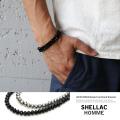 【SHELLAC HOMME/シェラックオム】日本製/国産ビーズ巻きブレス◆6116