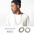 【Walnut.】日本製/国産ビーズ天然石ロングネックレス&ブレスレット◆6278