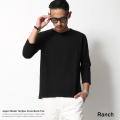【Ranch daily wear products】日本製/国産丸胴度詰め天竺クルーネックTee◆6335