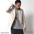 【Upscape Audience/アップスケープオーディエンス】日本製/国産綿麻キャンバス1Bカラーレスジャケット◆7016