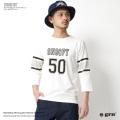 【grn/ジーアールエヌ】ナンバリング7分袖フットボールTシャツ◆7041