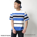 【SALE】【HOUSE OF BLUES】ボーダーUSAコットンTEE◆7066