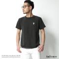 【SALE】【Audience/オーディエンス】PLAYBOYラビットヘッド刺繍ピグメント加工Tシャツ◆7090