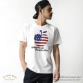 【SALE】【modem design/モデムデザイン】日本製/国産USAコットンアップルプリントTシャツ◆7179