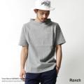 【SALE】【Ranch/ランチ】ポンチ素材ガンジーネック半袖Tシャツ◆7240