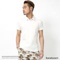 【SALE】【hanakazari/ハナカザリ】先染め鹿の子ストレッチポロシャツ◆7300