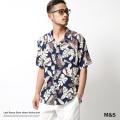 【SALE】【M&S/エムアンドエス】リーフアロハシャツ◆7304