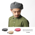 ウォッシュドストラップベレー帽◆7338