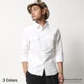 襟カットオフシャツ◆7516