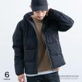 【SALE】ストレッチ中綿フードジャケット◆7848