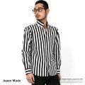 日本製/国産ブロードストライプスキッパーシャツ◆7887