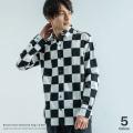 日本製/国産チェッカーフラッグシャツ◆7888