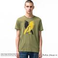 【送料無料】【Nudie Jeans/ヌーディージーンズ】ANDERS Hugin And Munin Beech Green Tシャツ◆8100