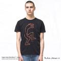 【送料無料】【Nudie Jeans/ヌーディージーンズ】ANDERS WOLF BLACK Tシャツ◆8218