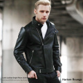 【送料無料】【Harlem Rounge/ハーレムラウンジ】Lamb Leather Single Riders◆8485