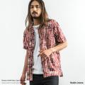 【送料無料】【Nudie Jeans/ヌーディージーンズ】Brandon Graffiti Stripe半袖シャツ◆8855