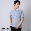 シャツ地切替デザインレギュラーカラー半袖ポロシャツ◆8877