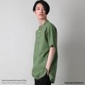 【Upscape Audience/アップスケープオーディエンス】日本製/国産 コットンクロスバンドカラープルオーバーSSシャツ◆8936