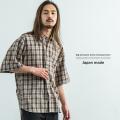 日本製/国産ビッグシルエットチェック柄シャツ◆8990